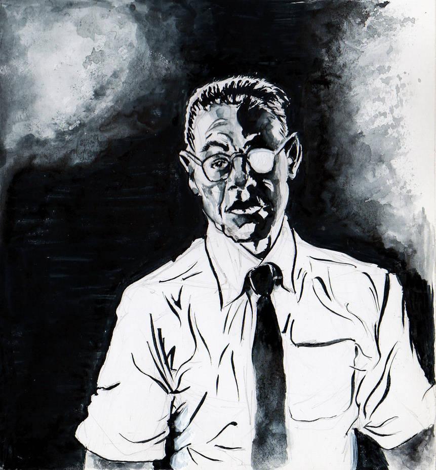 Gustavo Fring Ink Portrait by fedelacelli