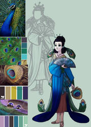 Peacock Empress by DotsofLight