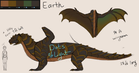Dragon types concept - Earth by DotsofLight