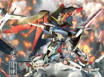 Destiny Gundam's Akatsuki by sandrum
