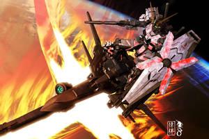 Unicorn Gundam - Delta Plus by sandrum