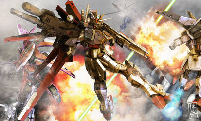 Force Impulse Gundam: Teamwork by sandrum
