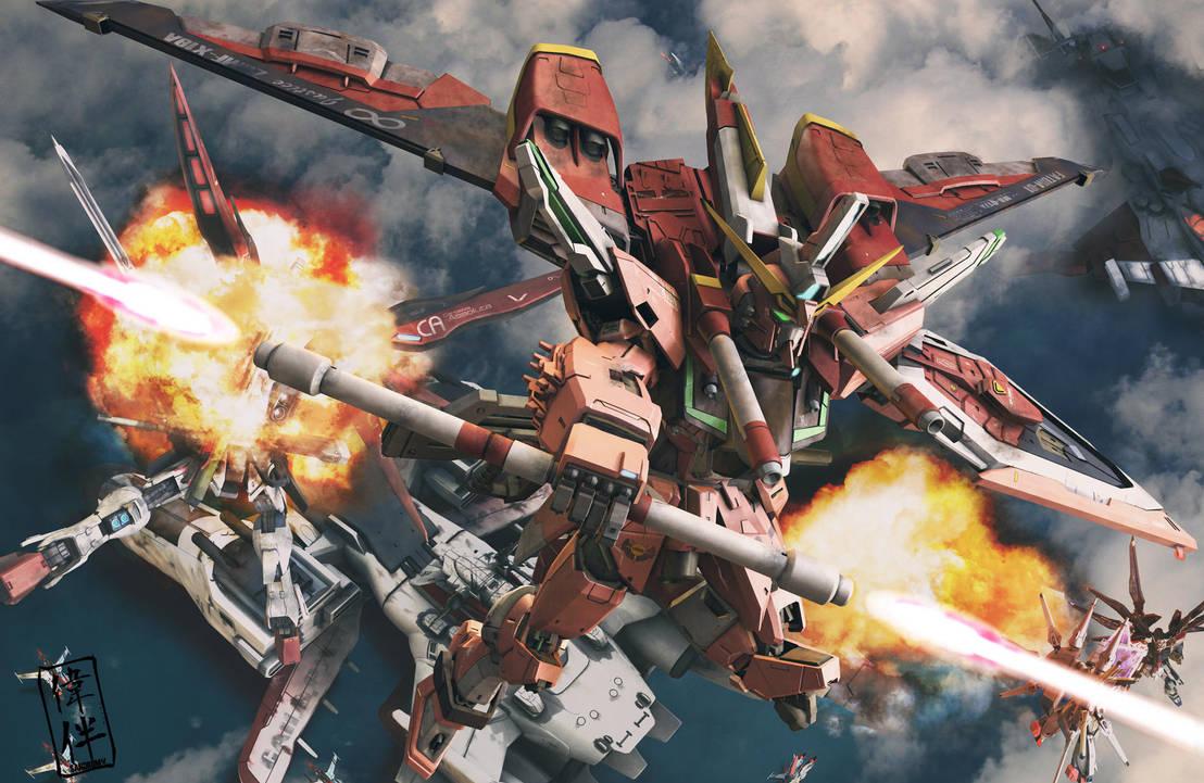 Infinite Justice Gundam Charge by sandrum