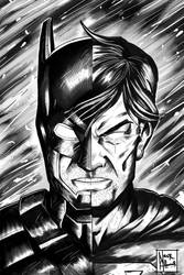 batman vs superman BW by dotlineshape