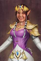 Princess Zelda by dotlineshape