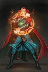 Doctor Strange_fan art by dotlineshape