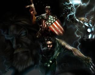 Marvel Heroes by soccerdemon