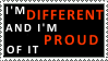 Different - proud - Stamp by Bubel-Coyot