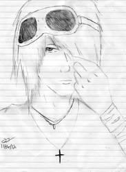 Emo Boy Sketch   by redlotus28