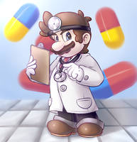 Dr. Mario by EarthB-Kun