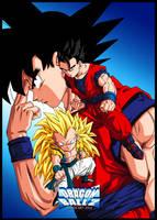 Gohan,gotenks And Goku by PhazeN1
