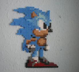 Sonic the hedgehog bead by CmOrigins