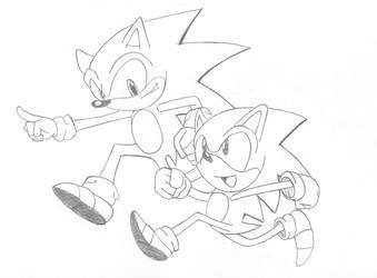 Sonic the hedgehogs by CmOrigins