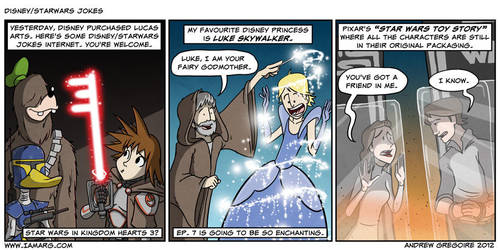 Disney/Starwars jokes by IAMARG