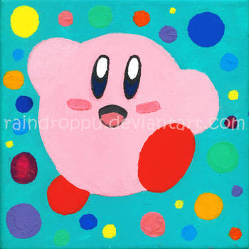 Kirby painting by Raindroppu