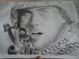Jared Leto as a soldier [+TIME LAPSE VIDEO] by Rooivalk1