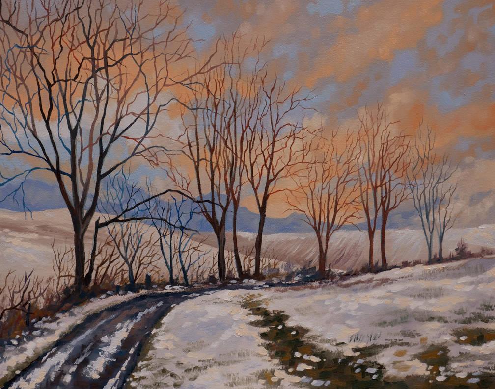 Winter in oil by SChappell