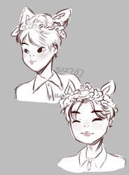 Jimin Sketches by cutiepiegirl95