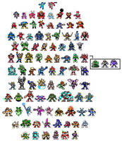 Megaman Robot Masters by TJE101
