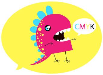 CMYK Monstar by RAWr-its-ASH