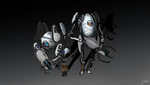 portal 2 coop bots by Mewtheed