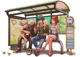 BNHA - Bus Stop by Kimopoleis