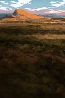 The Bright Reddish-Yellow Hill by sinakasra
