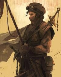 Desert Huntress by sinakasra