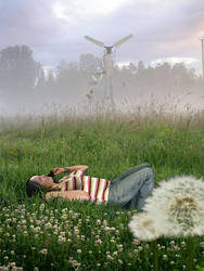 photomanip - Girl in the Grass by kparks