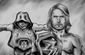 Fan Art AJ Styles Smackdown Live by JPSotoXXIV