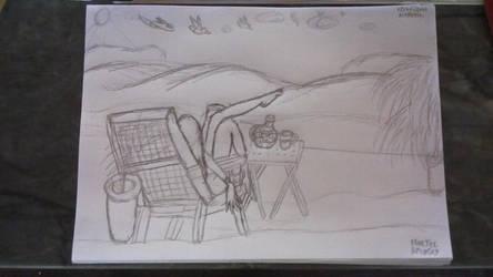 Blue Tea Drawing by Leko2