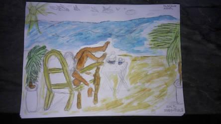 Blue Tea Drawing - Take 2 by Leko2