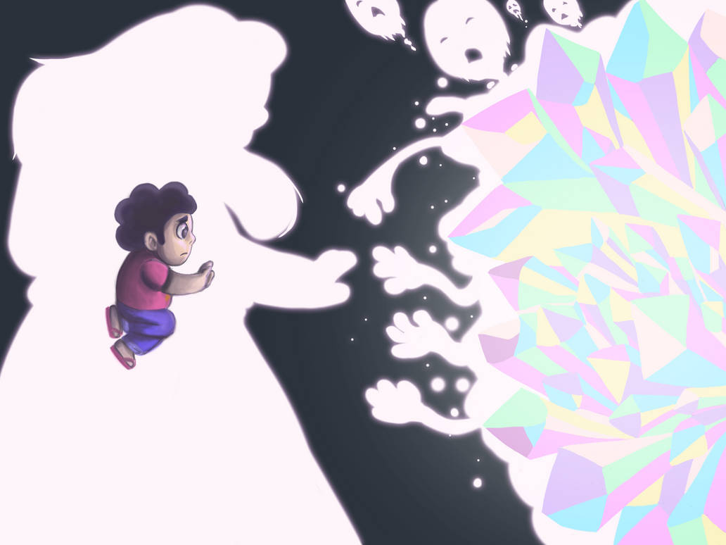 A feels inspired fan art piece from tonight's episode of Steven Universe