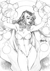 Scarlet witch by Alissonart
