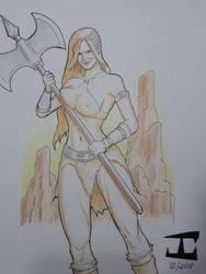Barbarian woman by JosaCoimbra
