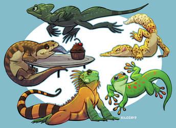Lizard Buddies by Kilo-Monster