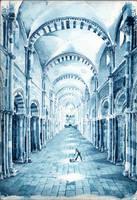 Nef de Vezelay - Prussian blue by UnAutreLapin