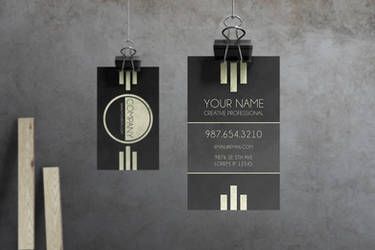 Caveat - Art Deco Business Card by macrochromatic