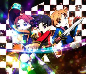 SSB4 / Mii fighters by hasumiyuki