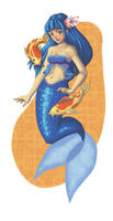 Blue Mermaid by Mellish