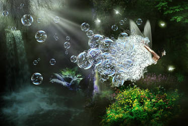 Bubble Fairy by KarinClaessonArt