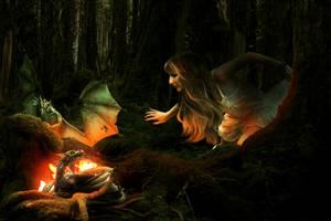 Dragons Nest by KarinClaessonArt