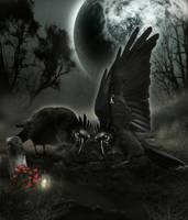 Ravens Grief by KarinClaessonArt