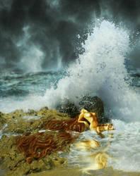 Mermaid Waves by KarinClaessonArt