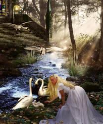 The Swan Protector by KarinClaessonArt