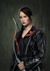 Katniss by elontaival