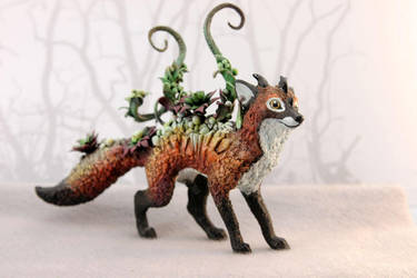 Succulent Red Fox Sculpture by nicsadika