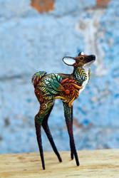 Deer Totem Figurine by nicsadika
