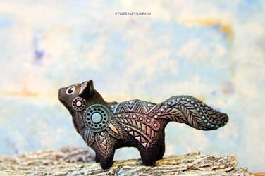 Cat Totem Figurine by nicsadika