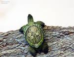 Sea turtle totem figurine by nicsadika
